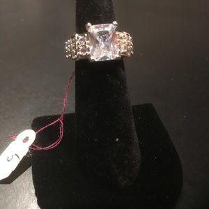 New silver engagement ring